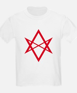 Red Unicursal Hexagram T-Shirt