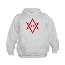 Red Unicursal Hexagram Hoodie