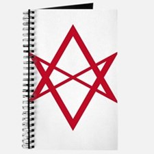 Red Unicursal Hexagram Journal