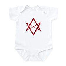 Red Unicursal Hexagram Infant Bodysuit