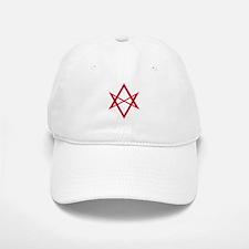 Red Unicursal Hexagram Baseball Baseball Cap