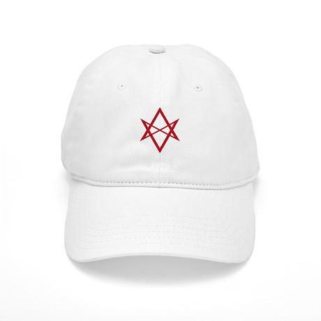 Red Unicursal Hexagram Cap