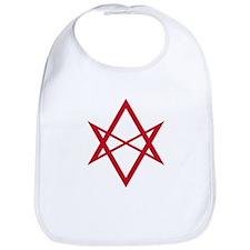 Red Unicursal Hexagram Bib