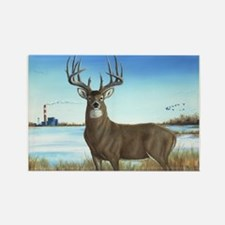 Cute Whitetail deer Rectangle Magnet