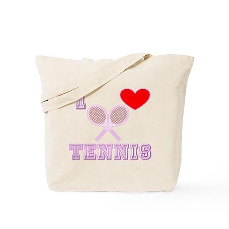 I Heart Tennis Light Pink Tote Bag