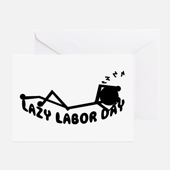 Lazy labor day Gifts Greeting Card
