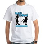 Walkin' For Raven in Blue White T-Shirt