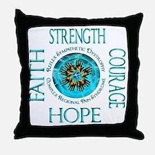 CRPS RSD Faith Courage Strength Hope Throw Pillow