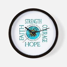 CRPS RSD Faith Courage Strength Hope Bl Wall Clock