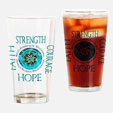 CRPS RSD Faith Courage Strength Hop Drinking Glass