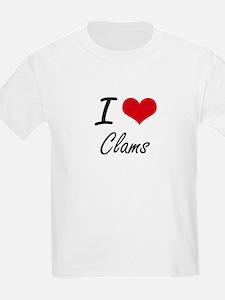 I love Clams Artistic Design T-Shirt