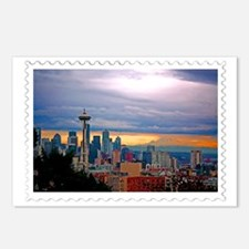 Seattle Skyline at Sunset Postcards (Package of 8)