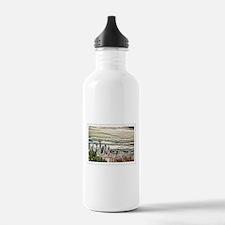Seattle Skyline in Fog Water Bottle