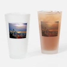 Seattle Skyline at Sunset Stamp TEX Drinking Glass