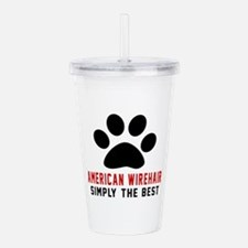 American Wirehair Simp Acrylic Double-wall Tumbler