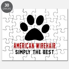 American Wirehair Simply The Best Cat Desig Puzzle