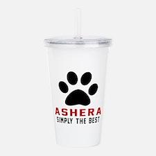 Ashera The Best Cat De Acrylic Double-wall Tumbler