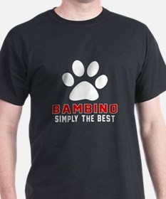 Bambino Simply The Best Cat Designs T-Shirt