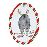 Australian Shepherd Christmas Oval Ornament