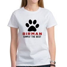 Birman Simply The Best Cat Designs Tee