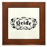 Bride Framed Tile