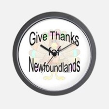 Thanks for Newfie Wall Clock