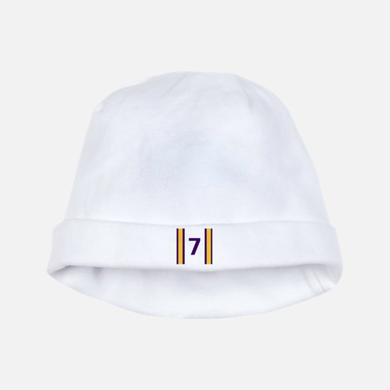 Purple and Gold Seven baby hat