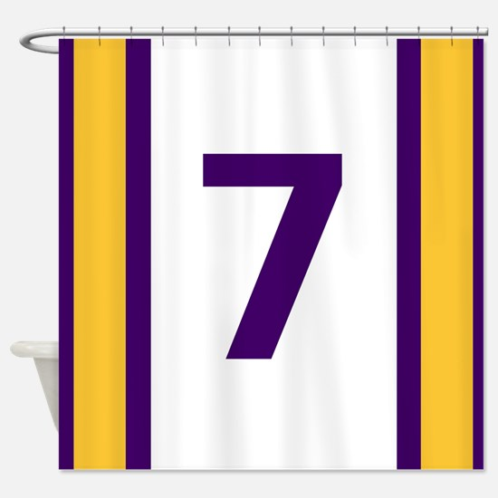 Purple and Gold Seven Shower Curtain