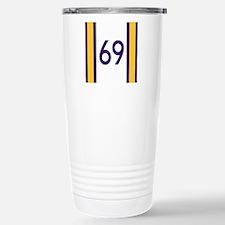 sixty nine purple and g Stainless Steel Travel Mug