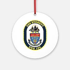 USS Sterett Ornament (Round)