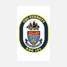 USS Sterett Rectangle Decal