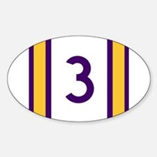 three purple and gold Decal