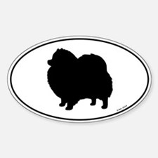 Pomeranian Oval Decal