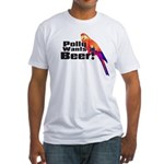 Beer Parrot Fitted T-Shirt