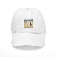 French Bulldog on the Beach Baseball Baseball Baseball Cap
