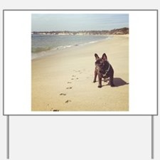 French Bulldog on the Beach Yard Sign