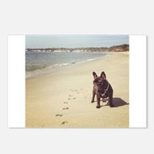 French Bulldog on the Beach Postcards (Package of