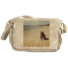 French Bulldog on the Beach Messenger Bag