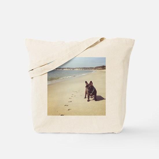 French Bulldog on the Beach Tote Bag