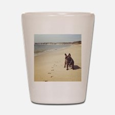 French Bulldog on the Beach Shot Glass