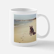 French Bulldog on the Beach Mugs
