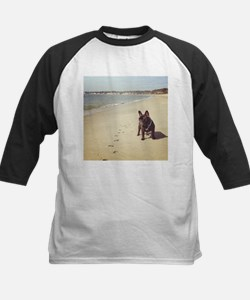 French Bulldog on the Beach Baseball Jersey