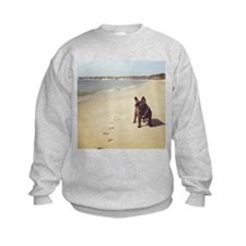 French Bulldog on the Beach Sweatshirt