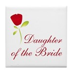 Red Bride's Daughter Tile Coaster