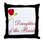 Red Bride's Daughter Throw Pillow