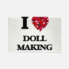 I Love Doll Making Magnets