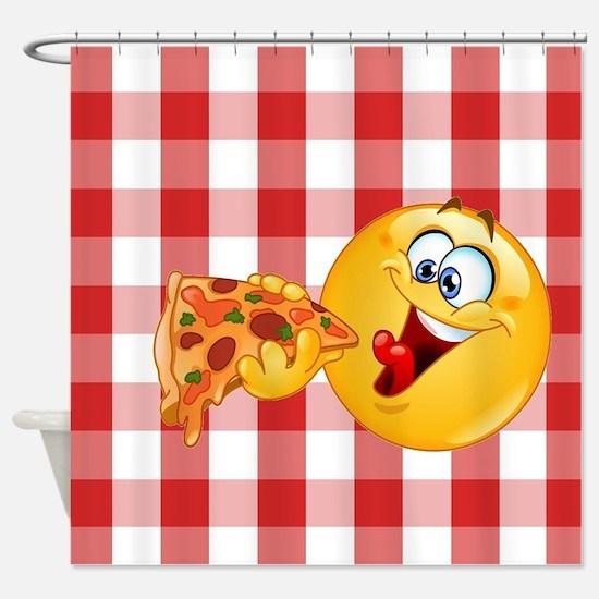 pizza emoji Shower Curtain