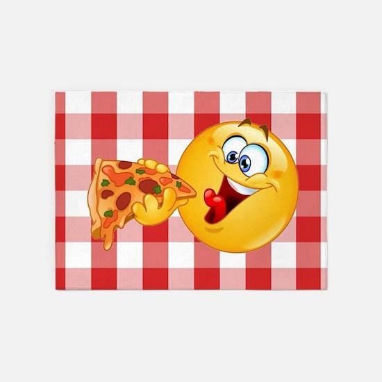 pizza emoji 5'x7'Area Rug