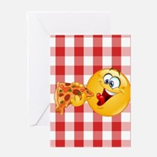 pizza emoji Greeting Cards