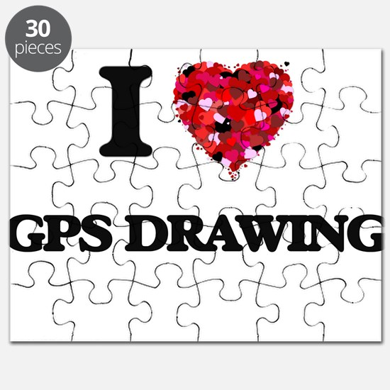 I Love Gps Drawing Puzzle